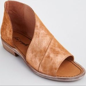 Free people rose Mont Blanc leather sandals
